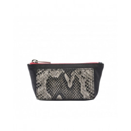 marie martens zippy wallet black python
